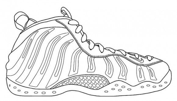 foamposite coloring pages | Nike Foamposite Coloring Page Sketch Coloring Page