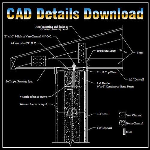 Header Details Cad Library Autocad Blocks Autocad