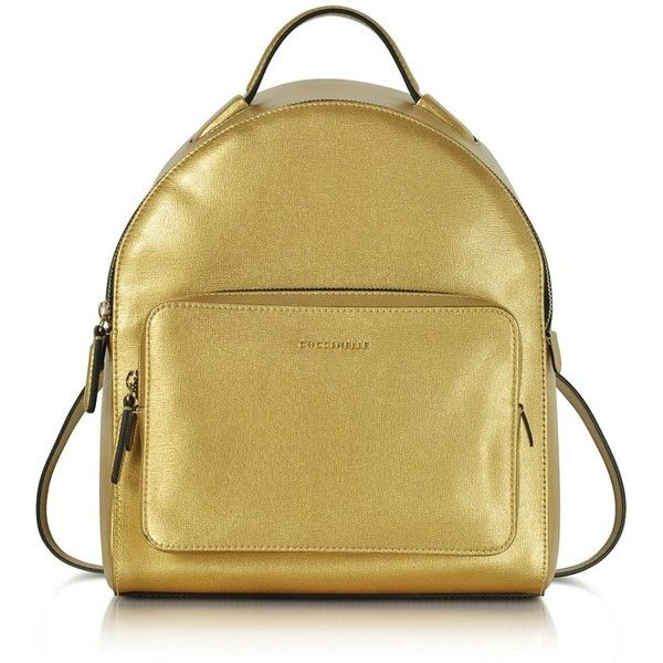 31295c3d672 Coccinelle Coccinelle Women s Gold Leather Backpack   Bluefly.Com ( 435) ❤  liked on
