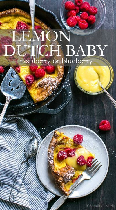 Quick and easy Lemon Raspberry Dutch Baby. A German style ...