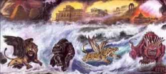 """Four beasts from the sea - Daniel 7 unlocks Revelation 13 and reveals who the beast is When Bible prophecy is symbolic in nature, the well known and proven day for a year principle is applied as demonstrated by Luke 13:32-33, Ezekiel 4:6, and Numbers 14:34. See also commentary on Daniel 7:25 under """"Until a time and…"""""""