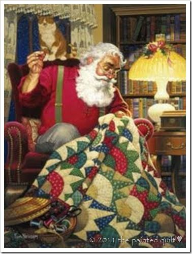 Santa quilts?....of course he does, he's a very creative guy...