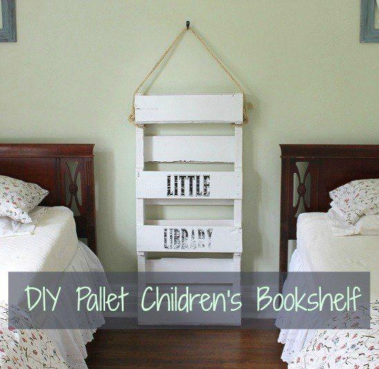 Diy Pallet Bookshelf For Kids Bookshelves Diy Pallet Bookshelf