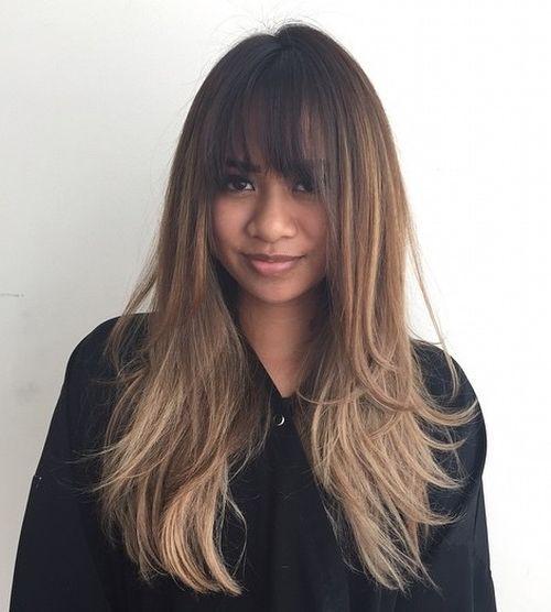 Long Layered Hair Straight With Bangs 5