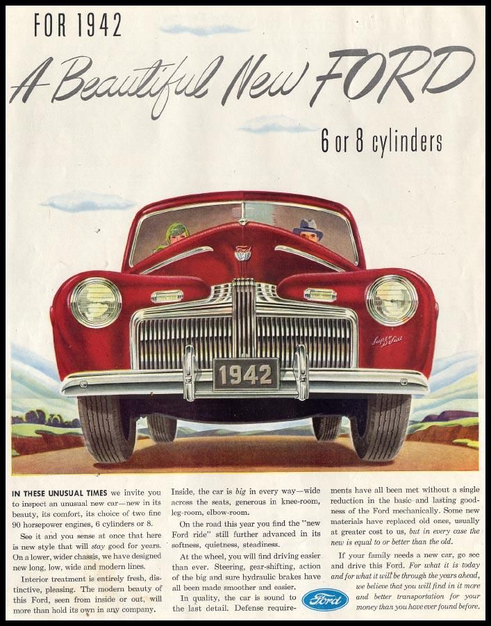 Vintage Ford - all about them - fords :) | Vintage Car Ads ...
