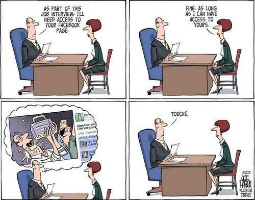 Image result for social media and job seekers funny