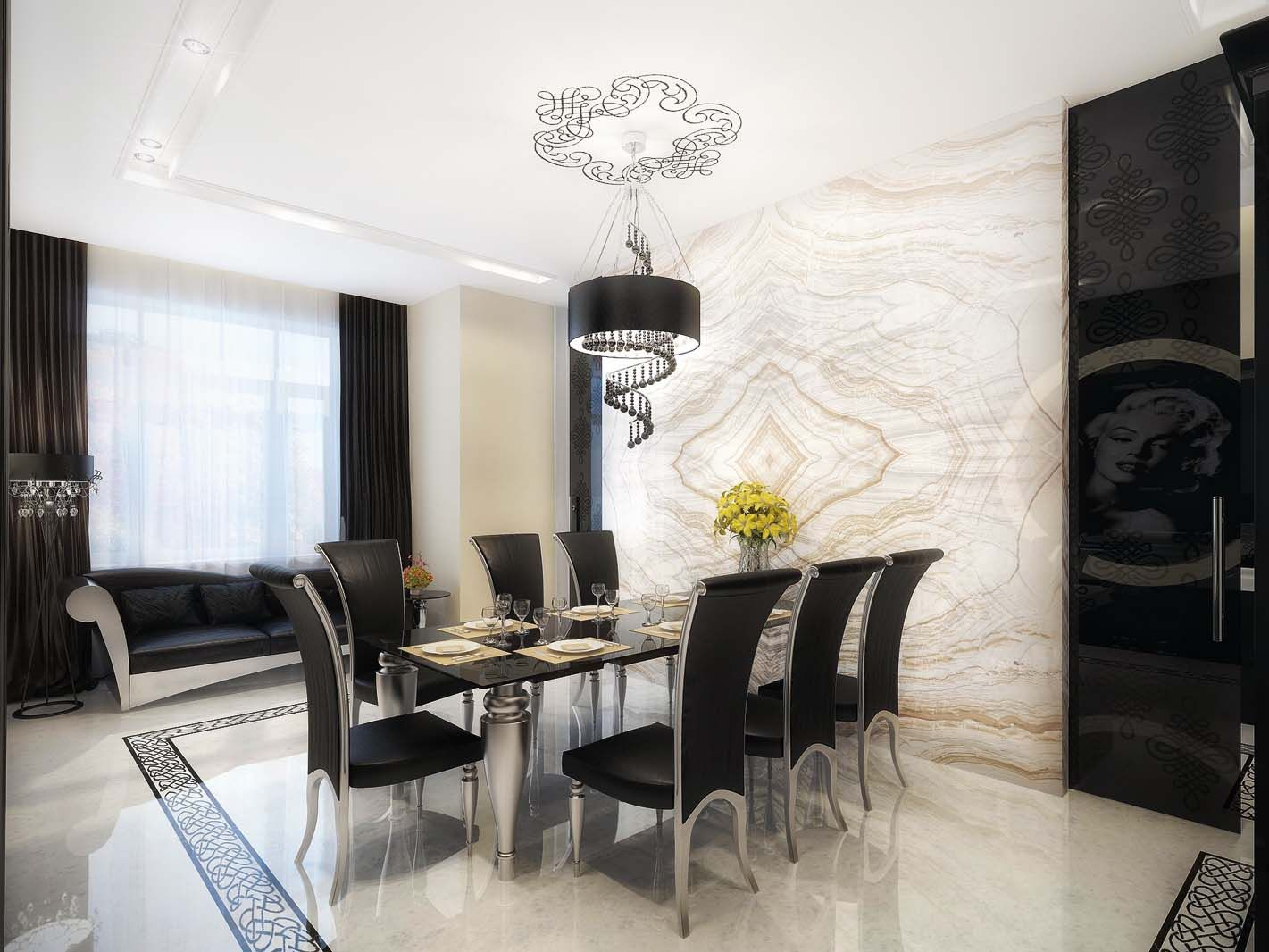 Dining Room Awesome Design Ideas Antique Modest Apartment Dining ...