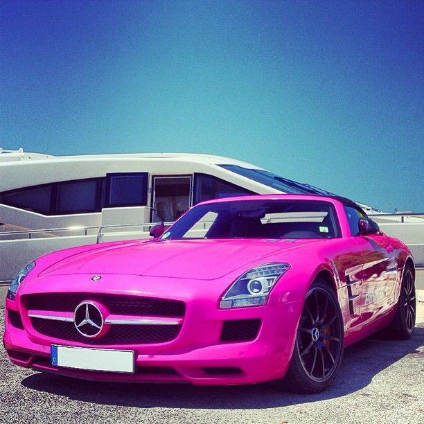 Pink Mercedes Benz SLS AMG