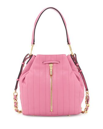 Cynnie Quilted Bucket Bag, Zinnia Pink by Elizabeth and James at Neiman Marcus.