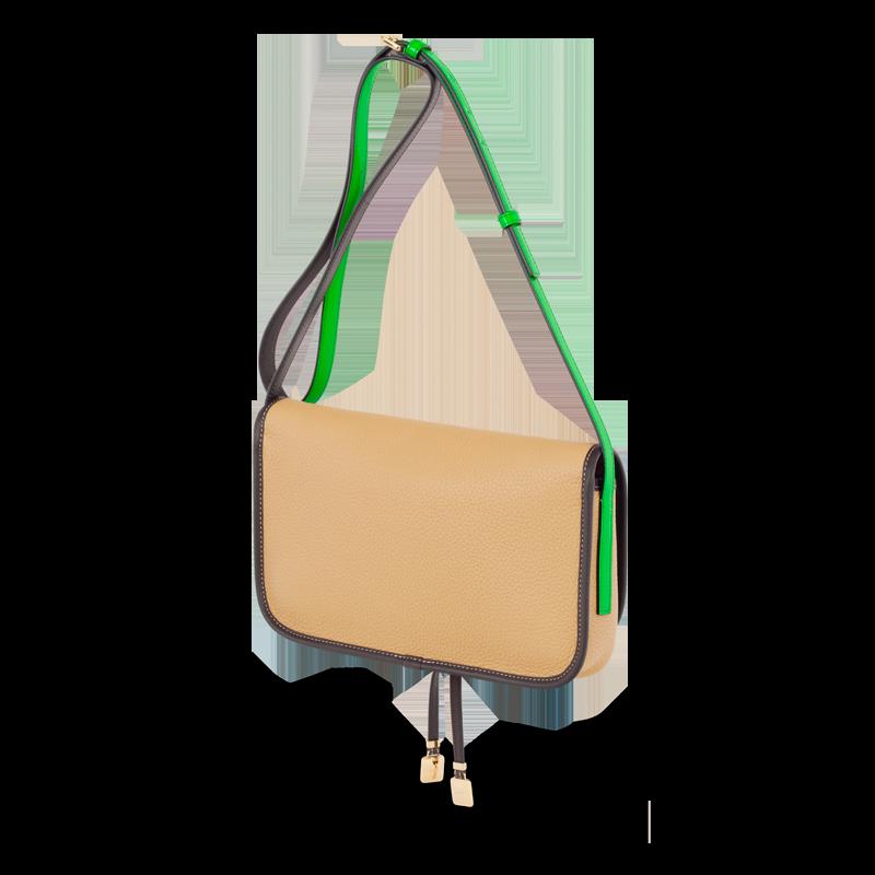 Loewe - handbag luna gold/green.  Marmite???