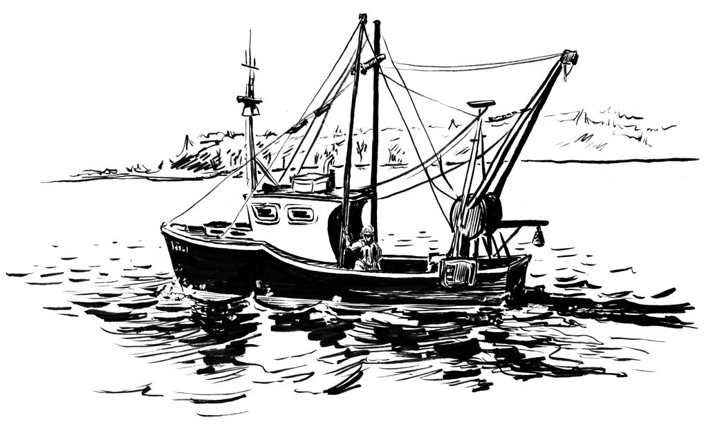 Simple Fishing Boat Boat Drawing Boat Sketch Boat Drawing Simple
