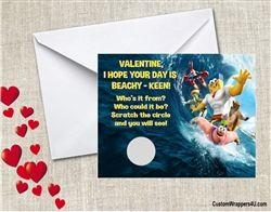 Spongebob Movie valentines day cards scratch off personalized