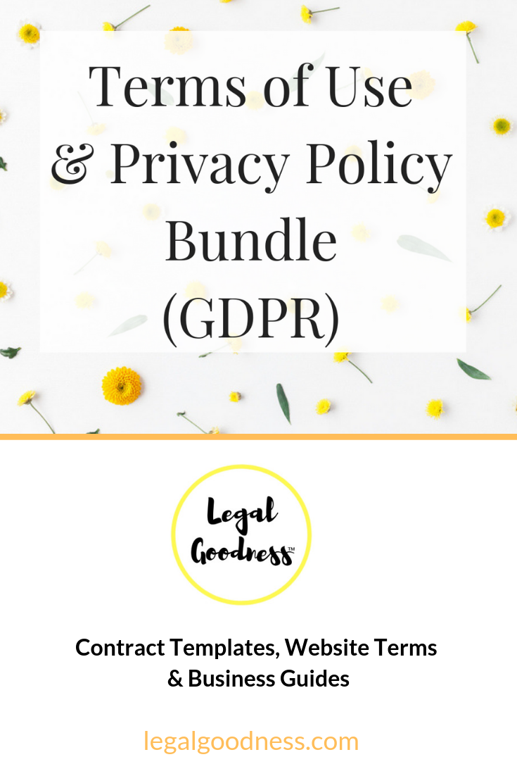 Website Terms Of Use Privacy Policy Bundle Gdpr Privacy Policy Online Entrepreneur Templates