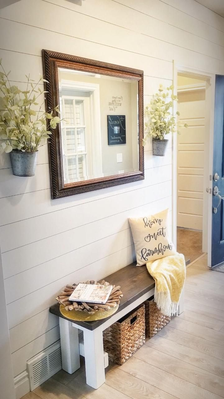 Do It Yourself Shiplap Wall with Ripped Plywood