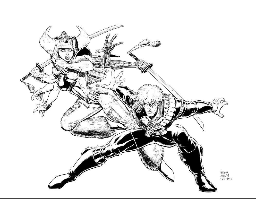 Spiral and Longshot by Arthur Adams #ArthurAdams #Spiral #Longshot #XMen  #Exiles #RitaWayword #Mojoverse #XForce #SisterhoodofMut… | Art, Comic  books art, Comic art