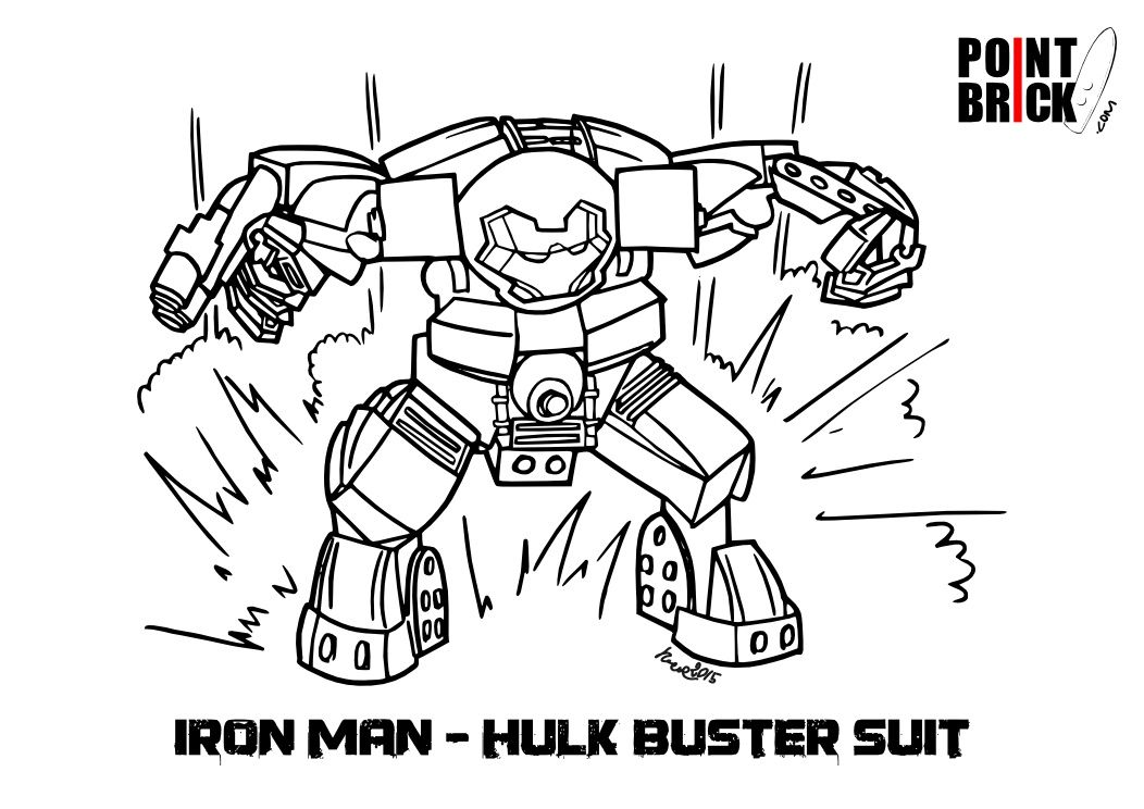 Point Brick Blog Disegni Da Colorare Lego Hulk Buster Ed