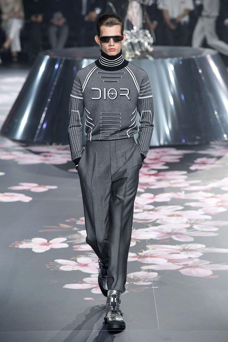 Elegant Robotic Fashion Runways #men'sfashion