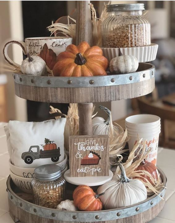 21 Best Tiered Tray Decor Ideas for Fall | Of Life + Lisa