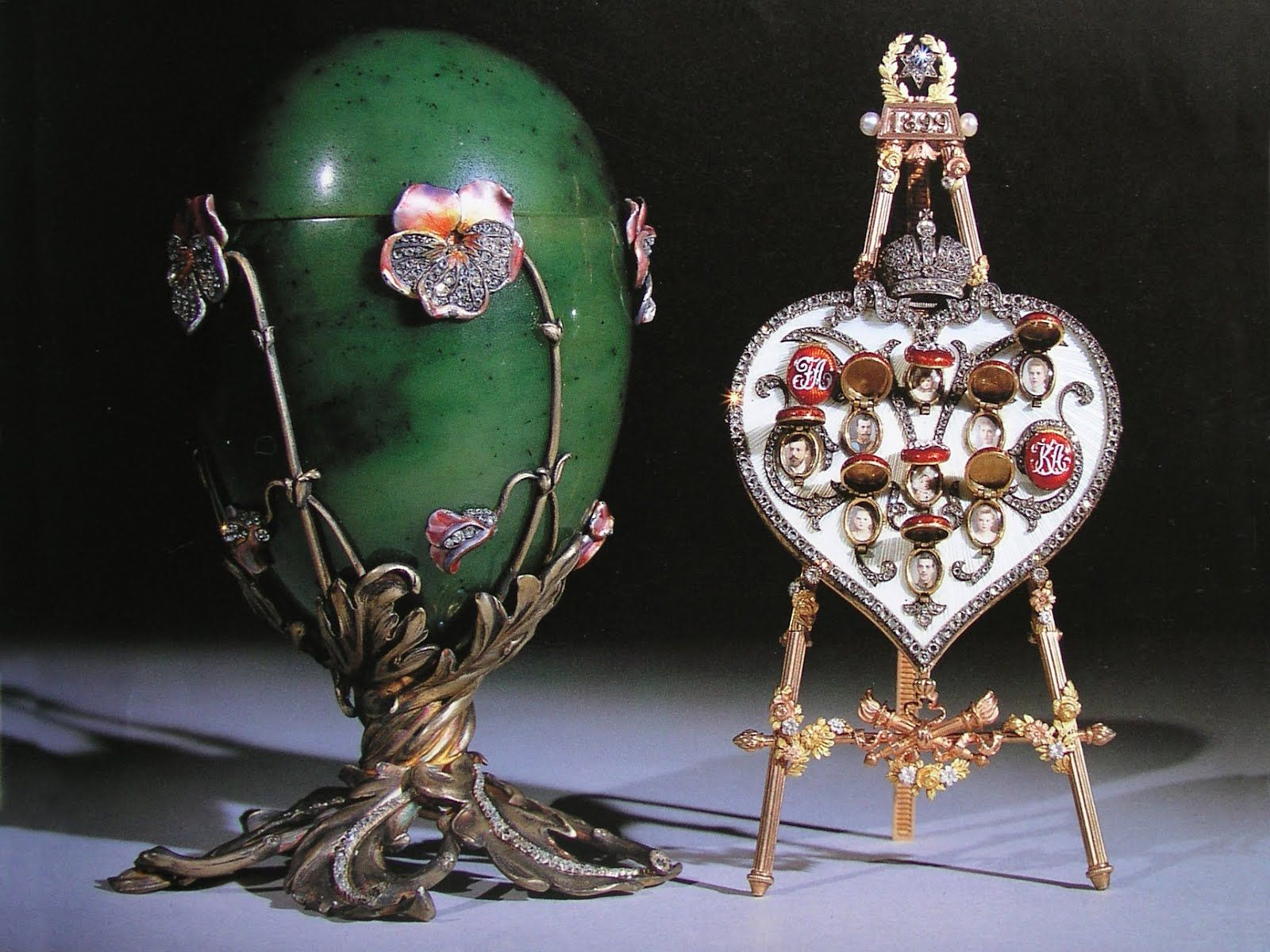 49 best imperial faberge eggs images on pinterest easter eggs 20 pansy egg spinach jade egg made by faberg in 1899 for tsar negle Gallery