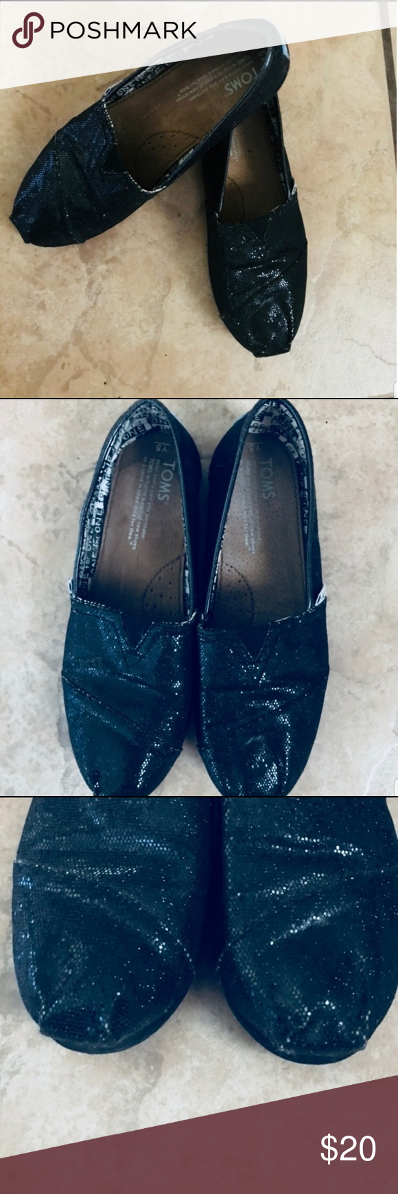Toms shoes, Black toms, Youth