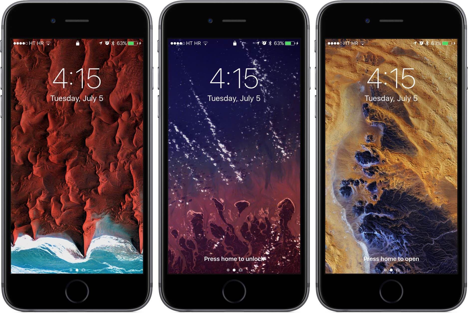 iOS 10 Lock screen unlock options space gray iPhone screenshot 001