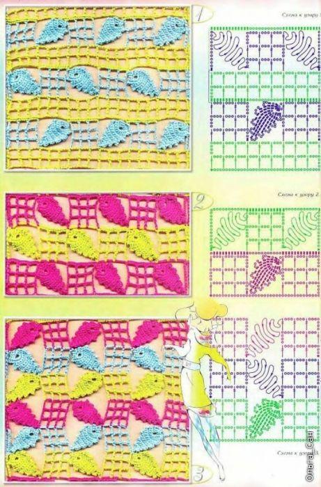 Filigranes Blattmuster häkeln - crochet lace pattern Leaf - Muchas ...