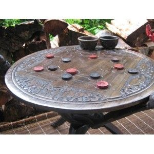 Fair Trade Furniture. Hand Crafted Coffee Table Game. One Side Plays Bao, A