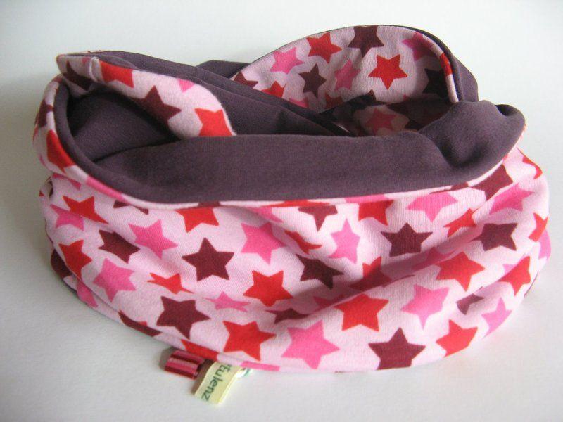 Schlauchschals - Sternen-Loop rosa-lila / Kinderschal - ein Designerstück von Innas-Eulenzauber bei DaWanda