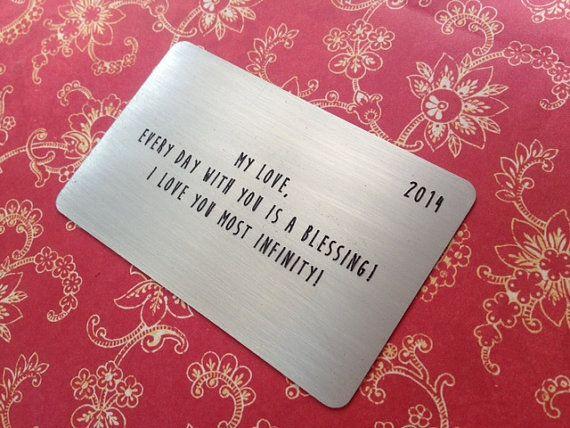 Hallmark Wedding Anniversary Gifts: Wallet Card Insert,Wallet Insert Card,Anniversary For Him