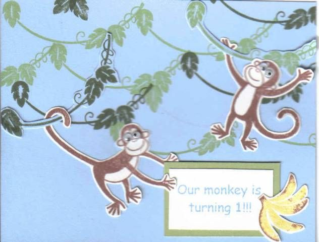 take 2 monkey invite monkey buisness cards paper crafts rh pinterest com