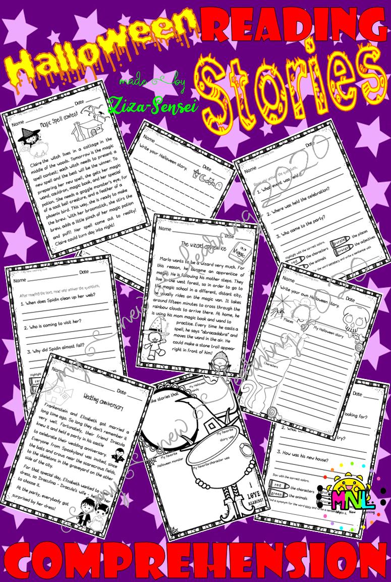Halloween Reading Comprehension Passages Short Stories Halloween Reading Comprehension Reading Comprehension Passages Comprehension Passage [ 1153 x 775 Pixel ]