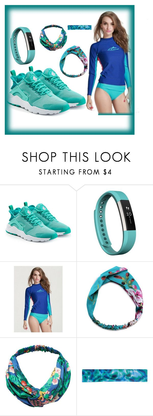 """""""Run!"""" by bren-johnson ❤ liked on Polyvore featuring NIKE, Fitbit and MANGO"""