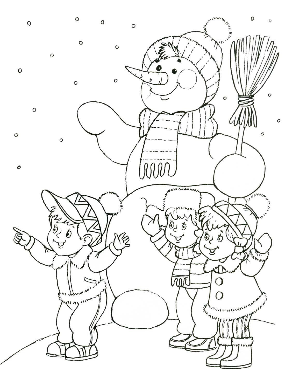 Adult Coloring Pages Books Kids Colouring Color Sheets Christmas Colors Winter Craft Talvi Saint Nicolas