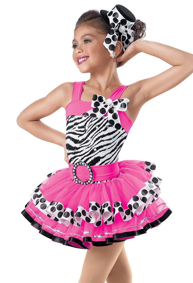 Zebra Print Pink Tiered Dress -Weissman Costumes | Dance costumes ...