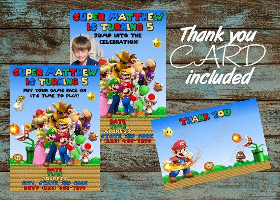 Super Mario Invitation, Mario Bros Invitation, Super Mario Bros Birthday Party Invitation, Super Mario Invite, Printable Mario Invitation