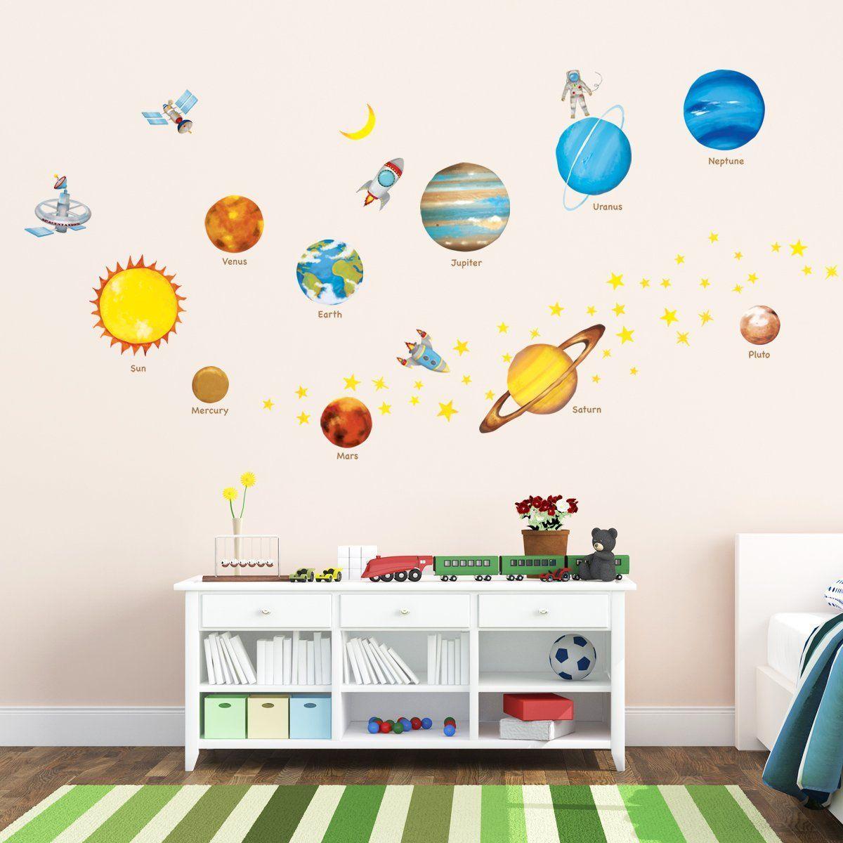 New Decowall DW Planeten in den Weltraum Peel u Stick Nursery Wandtattoo Aufkleber Amazon de Baby sch n Pinterest Aufkleber Wandtattoo und Babys