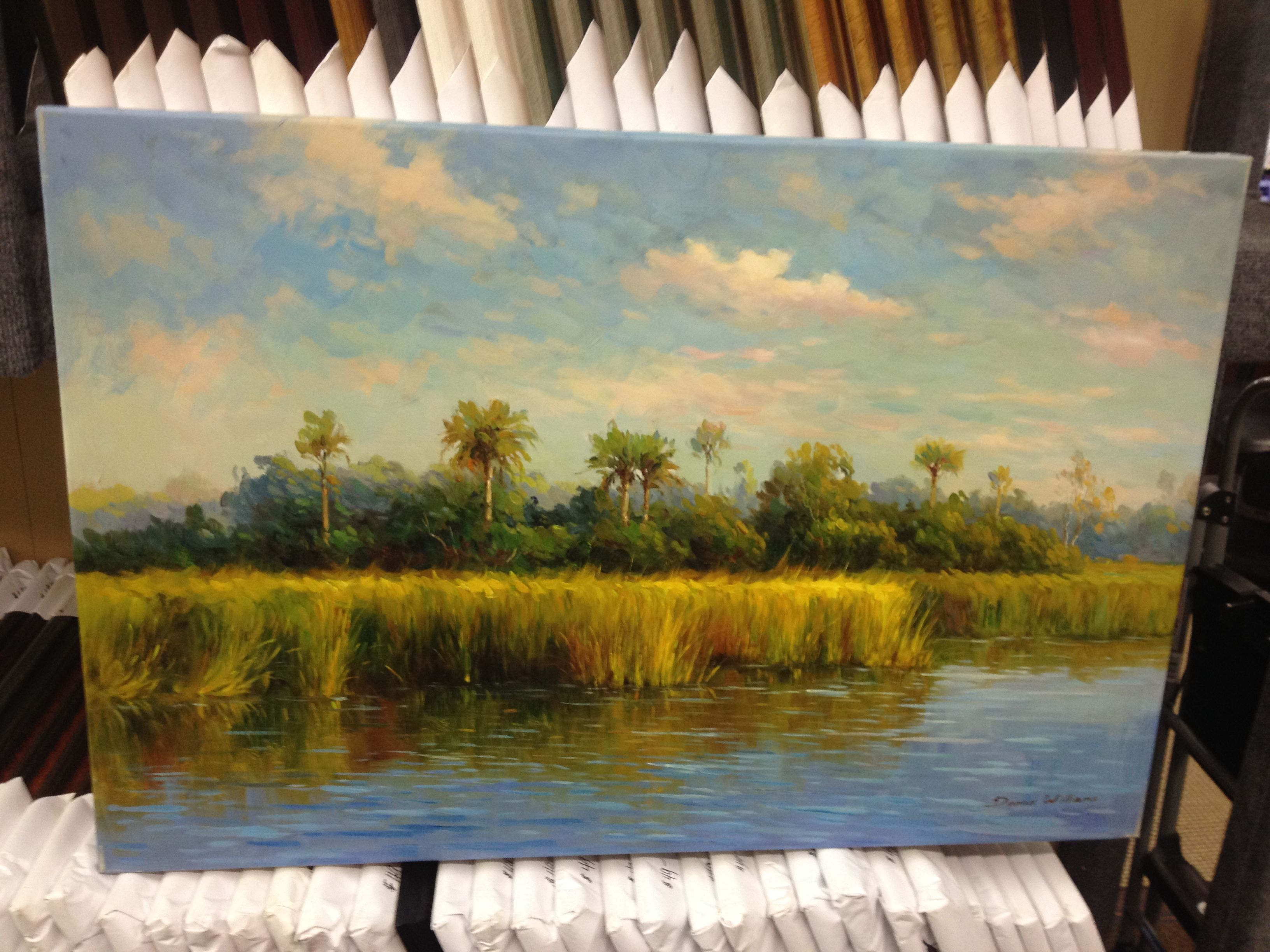 24x36 oil painting of Beresford Creek in Daniel Island — at Off the ...
