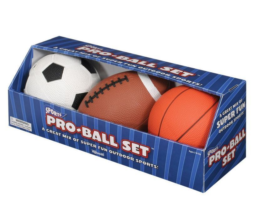 Ball Set Pro Toysmith 5 Basketball Soccer Football Balls Sports 1 4 Pump Kids Football Ball Football And Basketball Football Kids
