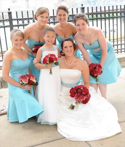 Tiffany Blue And Red Nautical Themed Wedding