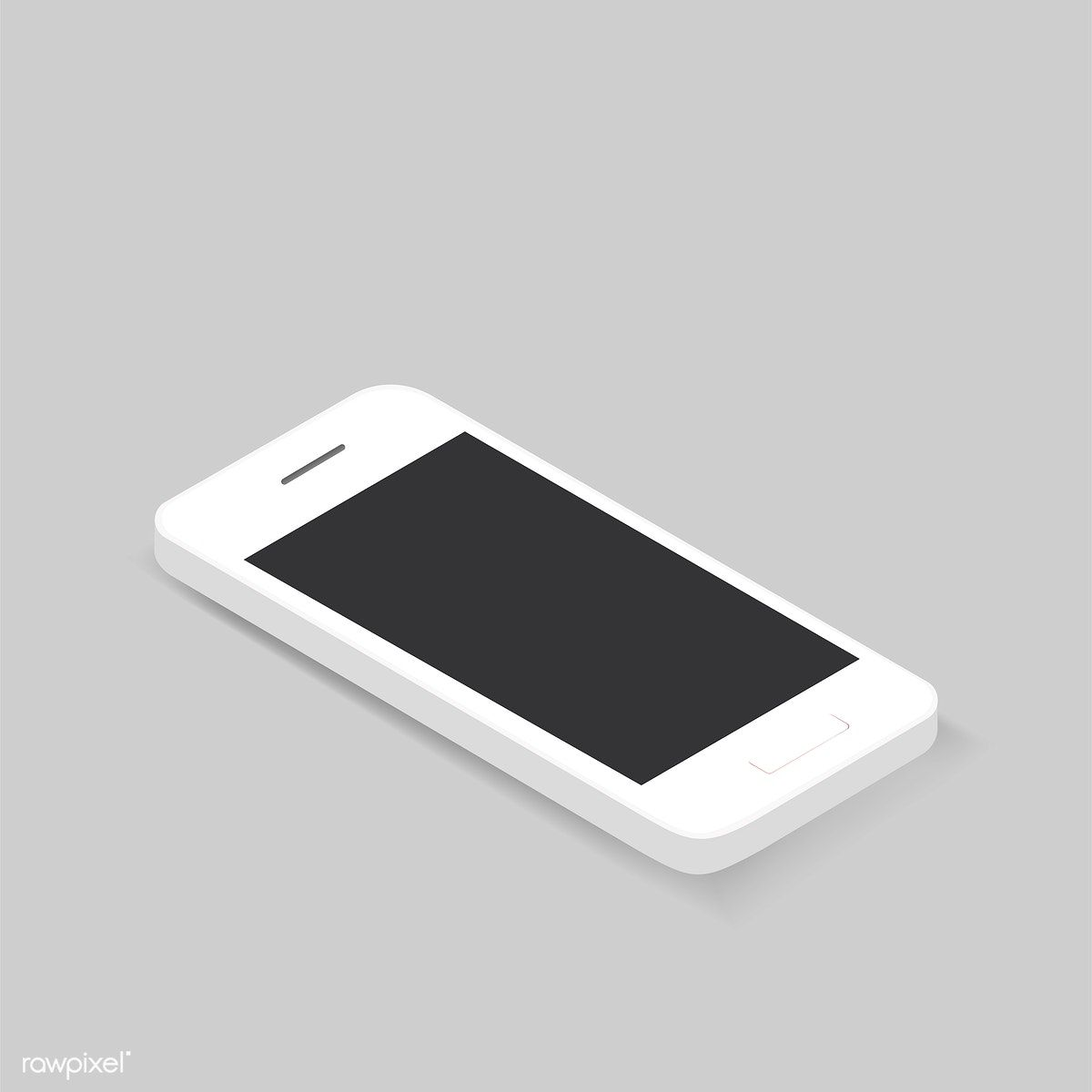 Vector of 3D smart phone icon on background free image
