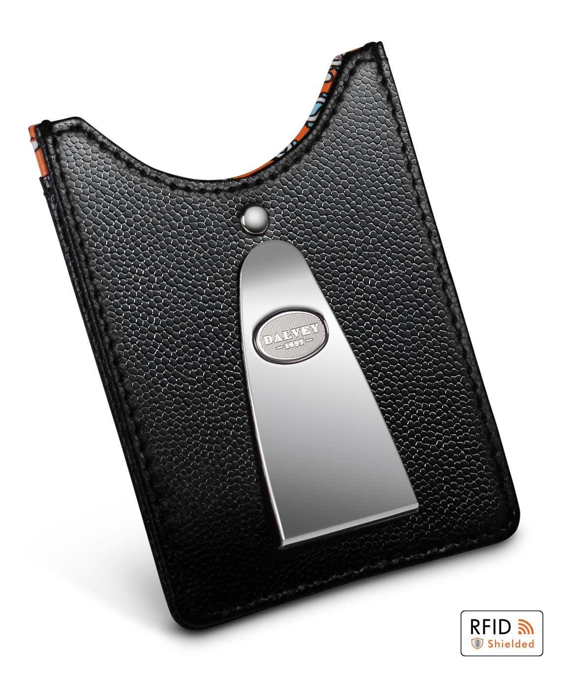 Access credit card holder money clip orange paisley