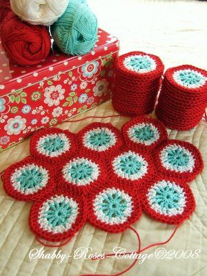 Shabby Roses Cottage Crochet Häkeln Nice Colors Crochet Motivos