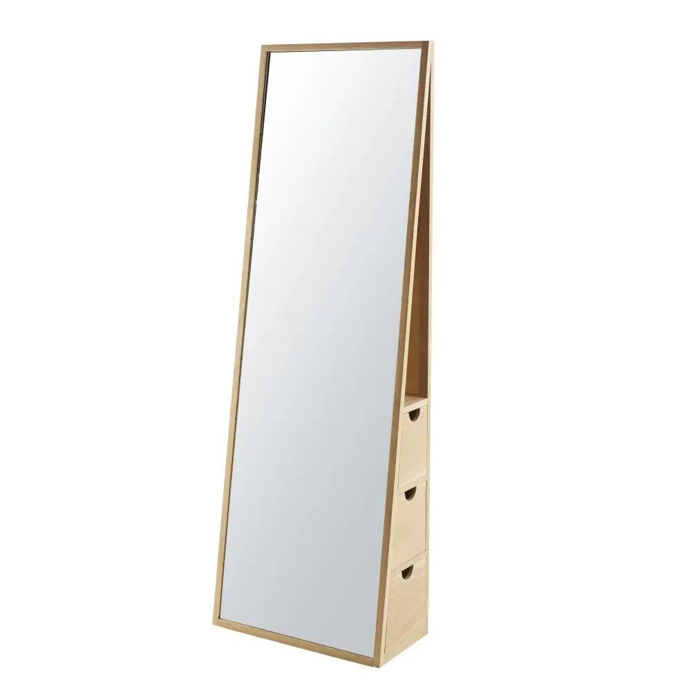 Specchio Reclinabile 3 Cassetti In Quercia 55x165 Cm Aksel Maisons Du Monde Ankleidespiegel Ankleide Eiche Holz