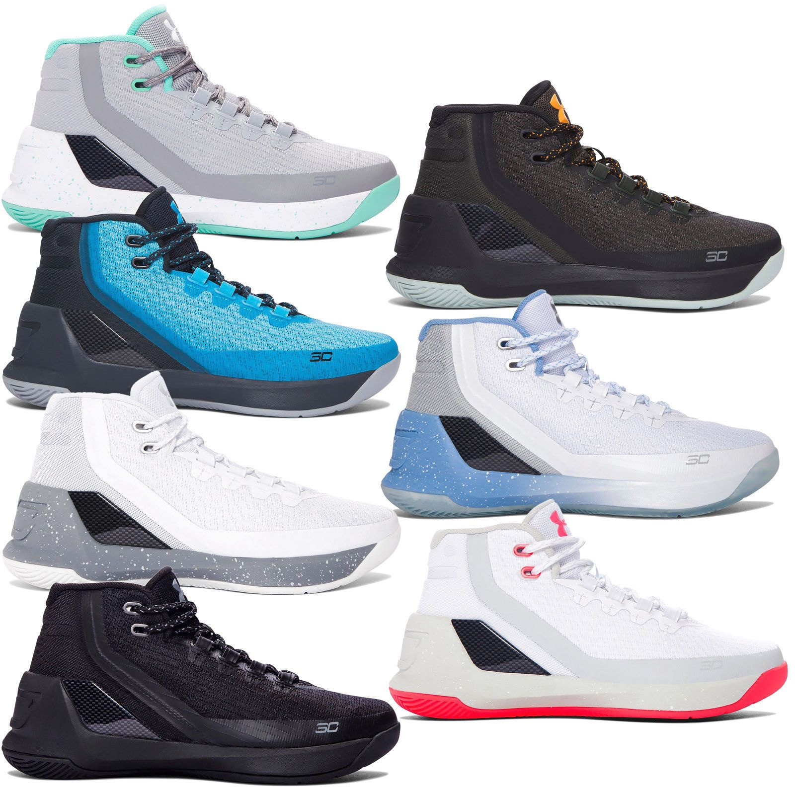 new style ce304 20373 New Under Armour UA Stephen Curry 3 GS Youth Basketball ...