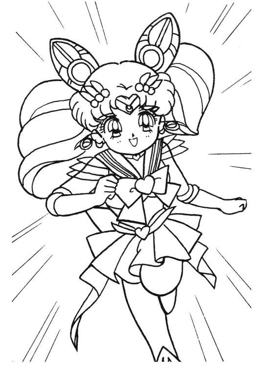 Sailor Moon Series Coloring Pages Super Sailor Chibi Moon Para