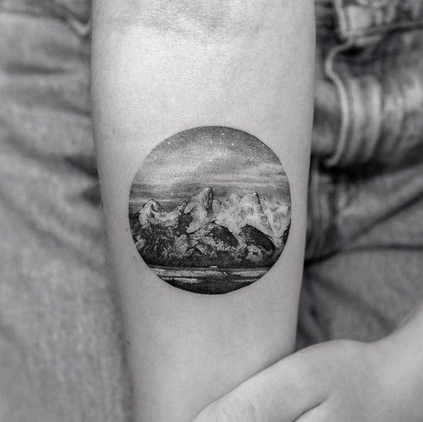 coolTop Body - Tattoo's - Landscape tattoo by Sanghyuk Ko...
