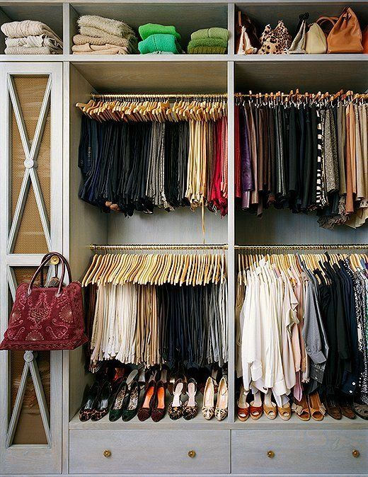 15 Organizing Tricks For Inside Your Most Clutter Prone Spots Closet Inspiration Small Closet Hanging Clothes