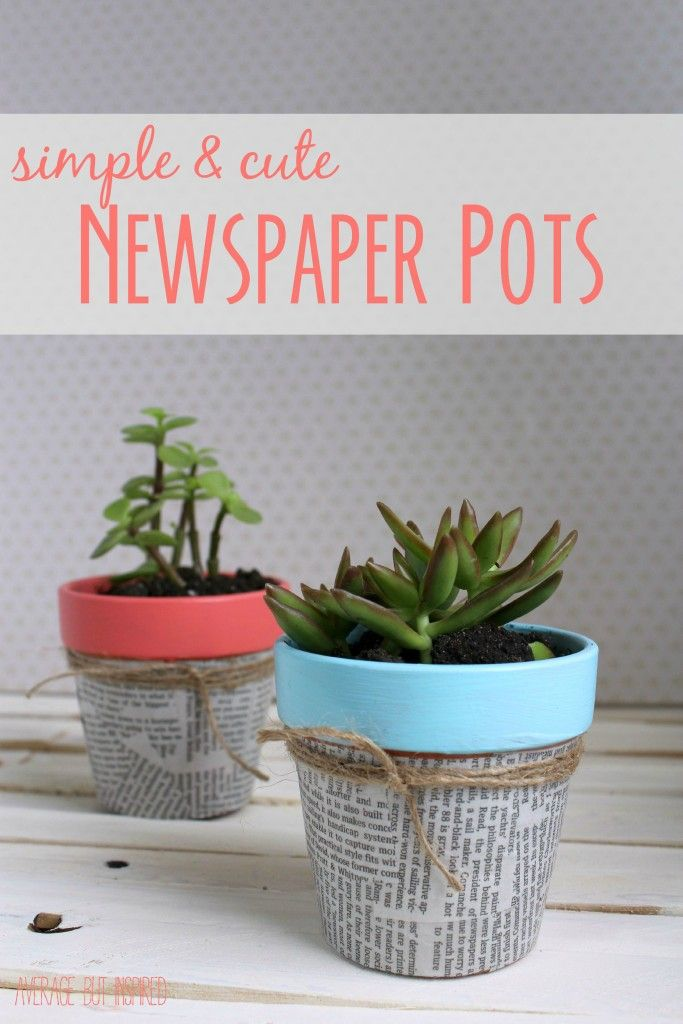 These little newspaper pots are so charming! They make a cute gift too! & Easy Newspaper Flower Pots | Crafting \u0026 DIY | Newspaper flowers ...