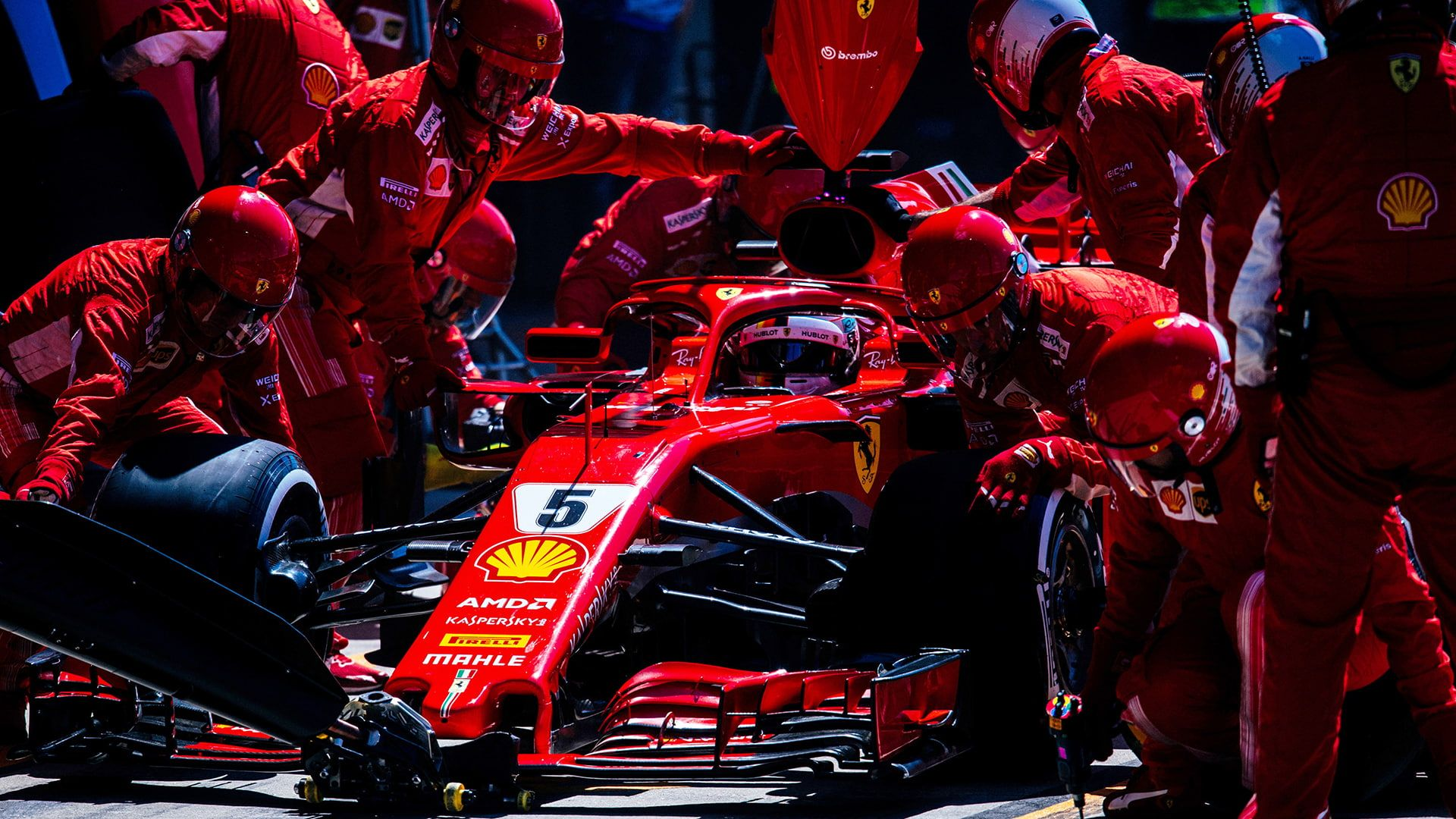 Ferrari F1 Formula 1 Pit Stop 1080p Wallpaper Hdwallpaper Desktop In 2020 Ferrari F1 Ferrari Formula 1
