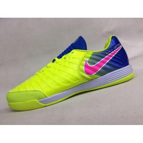 4b5dead35f0 Shop 2017 Nike Tiempo Legend VII IC Yellow Blue Soccer Shoes ...